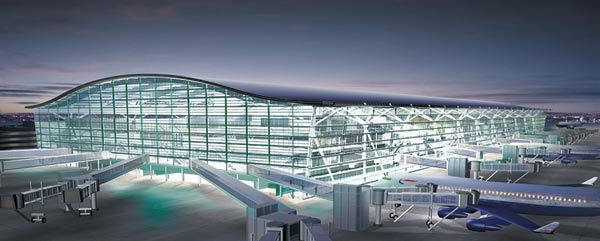 Airport design concept beauty of concrete Airport planning and design course